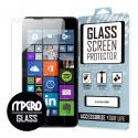 Microsoft Lumia 640 MPERO Tempered Glass Screen Protector Angle 1