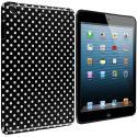 Apple iPad Mini Black / Mini White TPU Polka Dot Skin Case Cover Angle 1
