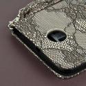 Google Nexus 6 - Black Lace MPERO FLEX FLIP Wallet Case Cover Angle 7