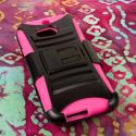 HTC One M8- HOT PINK MPERO IMPACT XT - Kickstand Case Cover and Belt Holster Angle 2