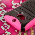 HTC One M8- HOT PINK MPERO IMPACT XT - Kickstand Case Cover and Belt Holster Angle 6