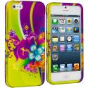 Apple iPhone 5/5S/SE Love Flower Hard Rubberized Design Case Cover Angle 1