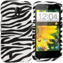 ZTE Majesty Z796C Black/White Zebra Hard Rubberized Design Case Cover Angle 1