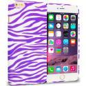 Apple iPhone 6 Plus 6S Plus (5.5) Purple / White Zebra TPU Design Soft Rubber Case Cover Angle 1