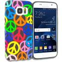 Samsung Galaxy S7 Peace Sign TPU Design Soft Rubber Case Cover Angle 1