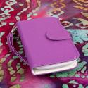 Huawei Vitria - Purple MPERO FLEX FLIP Wallet Case Cover Angle 2
