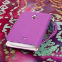 Huawei Vitria - Purple MPERO FLEX FLIP Wallet Case Cover Angle 3