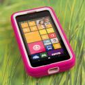 Nokia Lumia 530 - Hot Pink MPERO IMPACT XL - Kickstand Case Cover Angle 2