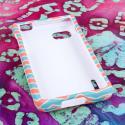 T-Mobile LG Optimus F3 - Mint Chevron MPERO SNAPZ - Rubberized Case Cover Angle 2