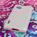 T-Mobile LG Optimus F3 - Mint Chevron MPERO SNAPZ - Rubberized Case Cover Angle 3