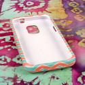 ZTE Source - Mint Chevron MPERO SNAPZ - Rubberized Case Cover Angle 2