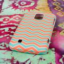 ZTE Source - Mint Chevron MPERO SNAPZ - Rubberized Case Cover Angle 3