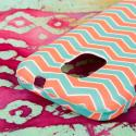 ZTE Source - Mint Chevron MPERO SNAPZ - Rubberized Case Cover Angle 6