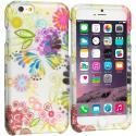 Apple iPhone 6 Plus 6S Plus (5.5) Flower Rainbow Colorful 2D Hard Rubberized Design Case Cover Angle 1