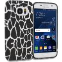 Samsung Galaxy S7 Black Giraffe TPU Design Soft Rubber Case Cover Angle 1