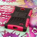 Nokia X - Hot Pink MPERO IMPACT SR - Kickstand Case Cover Angle 3