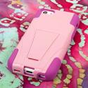 Apple iPhone 5C - Pink MPERO IMPACT X - Kickstand Case Cover Angle 3