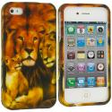 Apple iPhone 4 / 4S Lion Hard Rubberized Design Case Cover Angle 1