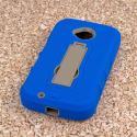 Motorola Moto E 2nd Generation - Blue MPERO IMPACT XS - Kickstand Case Cover Angle 3