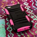 Apple iPhone 5/5S/SE - Pink MPERO IMPACT XT - Stand Case and Belt Holster Angle 2