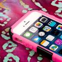 Apple iPhone 5/5S/SE - Pink MPERO IMPACT XT - Stand Case and Belt Holster Angle 5