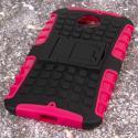 Motorola Moto X 2014 2nd Gen - Hot Pink MPERO IMPACT SR - Kickstand Case Angle 3
