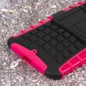 Motorola Moto X 2014 2nd Gen - Hot Pink MPERO IMPACT SR - Kickstand Case Angle 7