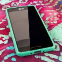 LG Optimus F7 US780 - Mint Green MPERO FLEX S - Protective Case Cover Angle 2