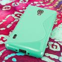 LG Optimus F7 US780 - Mint Green MPERO FLEX S - Protective Case Cover Angle 3