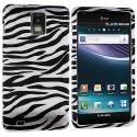 Samsung Infuse 4G i997 Black / White Zebra Design Crystal Hard Case Cover Angle 1