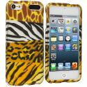 Apple iPod Touch 5th 6th Generation Mix Animal Skin Hard Rubberized Design Case Cover Angle 1