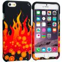 Apple iPhone 6 6S (4.7) Red Flame Hard Rubberized Design Case Cover Angle 1