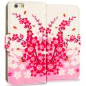 Apple iPhone 6 6S (4.7) Spring Flowers Leather Wallet Pouch Case Cover with Slots Angle 1
