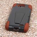 LG Optimus L90 - Sandstone / Gray MPERO IMPACT X - Kickstand Case Cover Angle 3