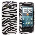 HTC EVO Shift 4G Black / White Zebra Design Crystal Hard Case Cover Angle 1