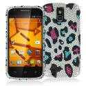 ZTE Force N9100 Colorful Leopard Bling Rhinestone Case Cover Angle 1