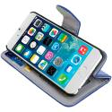 Apple iPhone 6 6S (4.7) Blue Leather Wallet Pouch Case Cover with Slots Angle 6
