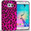 Samsung Galaxy S6 Edge Hot Pink Leopard TPU Design Soft Rubber Case Cover Angle 1