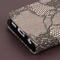 Apple iPhone 5C - Black Lace MPERO FLEX FLIP Wallet Case Cover Angle 6