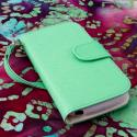 ZTE Warp Sequent N861 - Mint / White MPERO FLEX FLIP Wallet Case Cover Angle 2