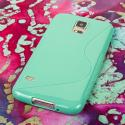 Samsung Galaxy S5- MINT GREEN MPERO FLEX S - Protective Case Cover Angle 3