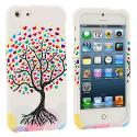 Apple iPhone 5/5S/SE Wishing Tree White Hard Rubberized Design Case Cover Angle 1