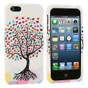 Apple iPhone 5/5S/SE Wishing Tree White Hard Rubberized Design Case Cover Angle 2