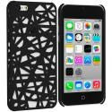 Apple iPhone 5C Black Birds Nest Hard Rubberized Back Cover Case Angle 1
