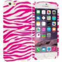 Apple iPhone 6 Plus 6S Plus (5.5) Pink / White Zebra TPU Design Soft Rubber Case Cover Angle 1