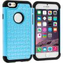 Apple iPhone 6 Plus Baby Blue Hard Rubberized Diamond Case Cover Angle 1