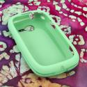 Samsung Gravity Q - Mint MPERO SNAPZ - Rubberized Case Cover Angle 2