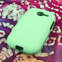 Samsung Gravity Q - Mint MPERO SNAPZ - Rubberized Case Cover Angle 3