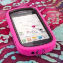 Samsung Galaxy Exhibit T599 - Hot Pink MPERO IMPACT XL - Kickstand Case Angle 2