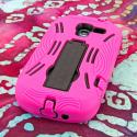 Samsung Galaxy Exhibit T599 - Hot Pink MPERO IMPACT XL - Kickstand Case Angle 3